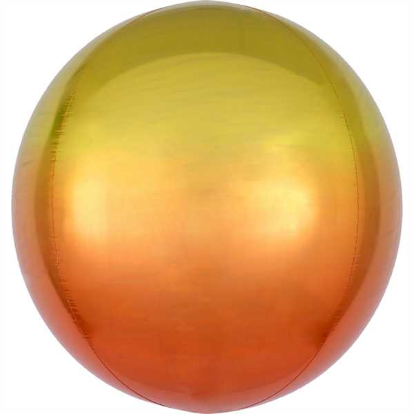 Anagram Folienballon Orbz Ombré Yellow & Orange 40cm/16""