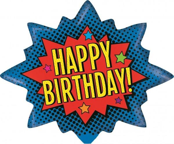 "Betallic Folienballon Superhero Birthday Mini 35cm/14"""