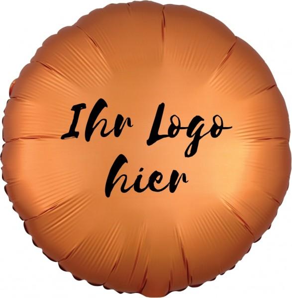 """Folien-Werbeballon Rund Satin Luxe Amber 45cm/18"""" 1-Seitig bedruckt"""