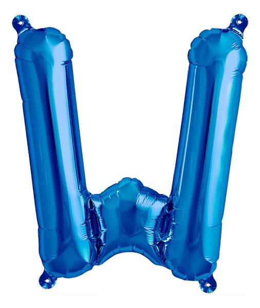 """Northstar Folienballon Buchstabe W Blue 40cm/16"""""""