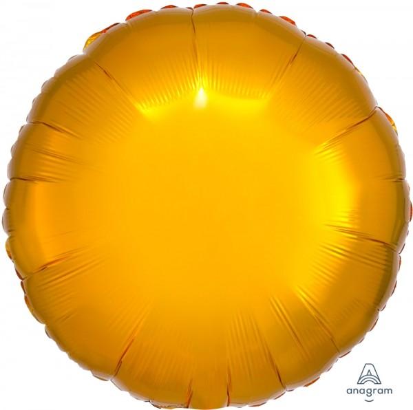 "Anagram Folienballon Rund Metallic Gold 45cm/18"""
