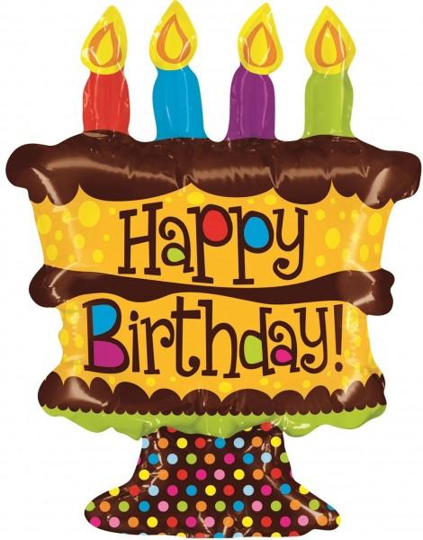 "Betallic Folienballon Mini Birthday Whole Cake 35cm/14"""