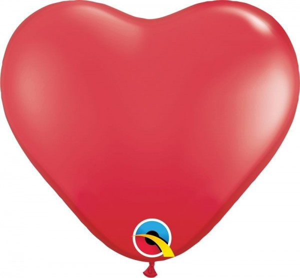 """Qualatex Latexballon Standard Red Heart 28cm/11"""" 100 Stück"""