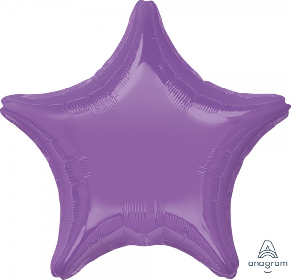 "Anagram Folienballon Stern Spring Lilac 50cm/20"""