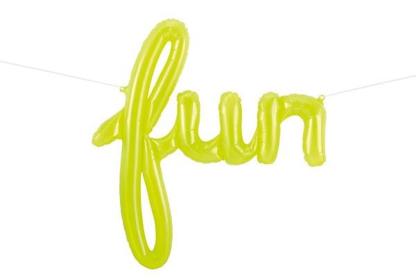 """Northstar Folienballon Fun Script Clear Lime Green 43"""""""
