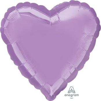 Anagram Folienballon Herz 45cm Durchmesser Pearl Lavendel (Lavendar)