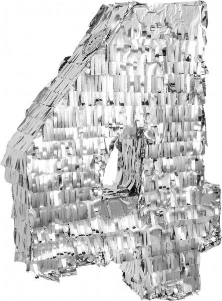 Goodtimes Pinata Zahl 4 in Silber