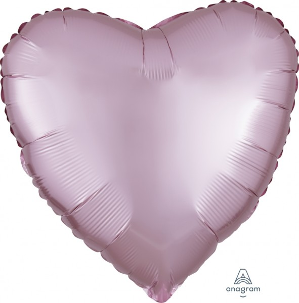 "Anagram Folienballon Herz Satin Luxe Pastel Rose 45cm/18"""