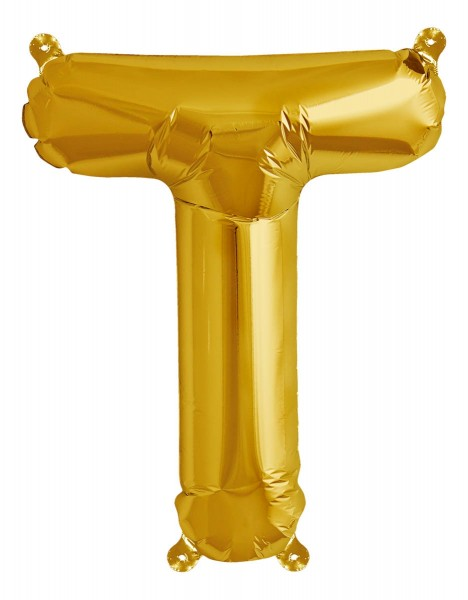 "Northstar Folienballon Buchstabe T Gold 40cm/16"""