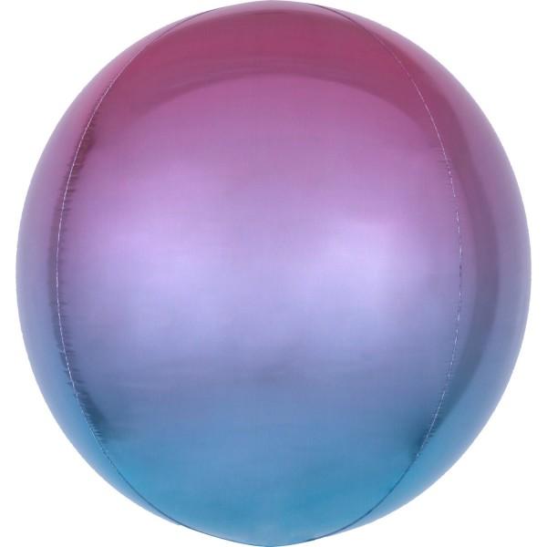 """Anagram Folienballon Orbz Ombré Purple & Blue 40cm/16"""""""