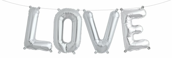 "Northstar Folienballon Love Kit Silver 16"""