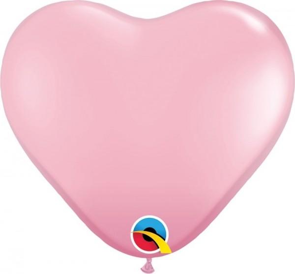 """Qualatex Latexballon Standard Pink Heart 15cm/6"""" 100 Stück"""