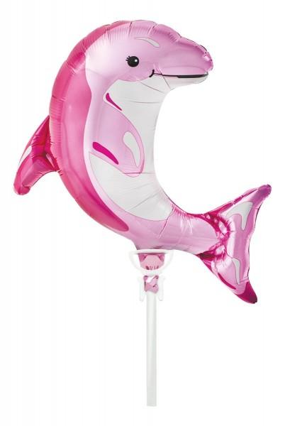 "Northstar Folienballon Pink Dolphin 14"""