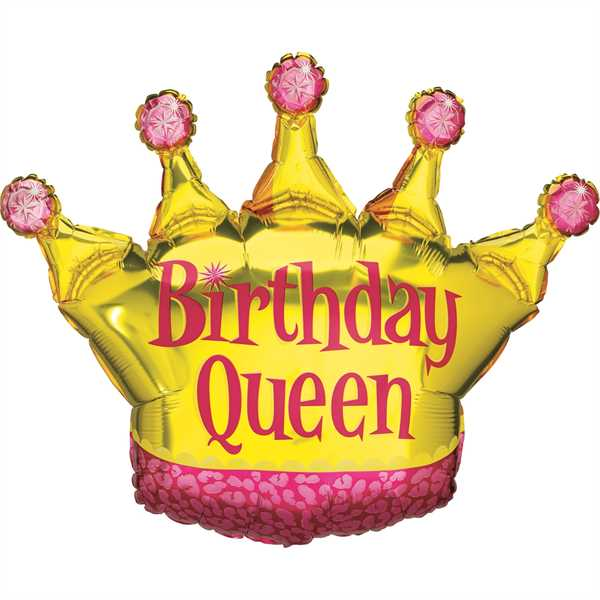 Betallic Folienballon Birthday Queen 90cm/36""