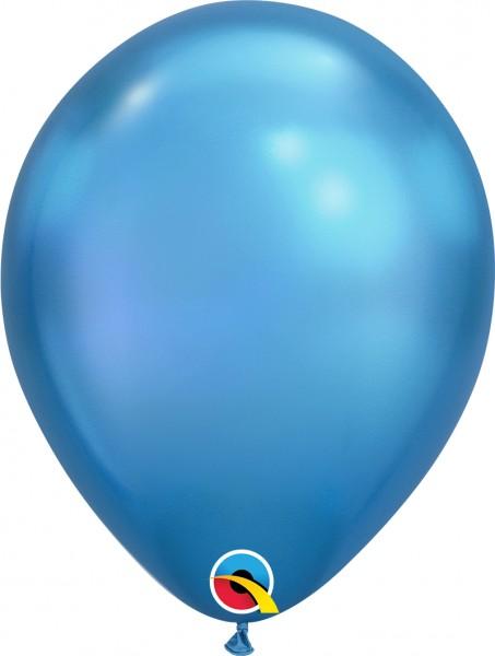 "Qualatex Latexballon Chrome Blue 28cm/11"" 25 Stück"