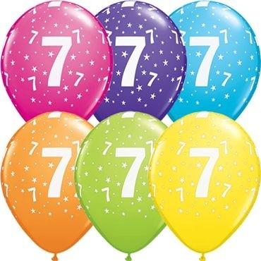 "Qualatex Latexballon Age 7 Retail Sortiment 28cm/11"" 6 Stück"