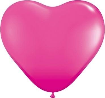"Qualatex Latexballon Fashion Wild Berry Heart 38cm/15"" 50 Stück"