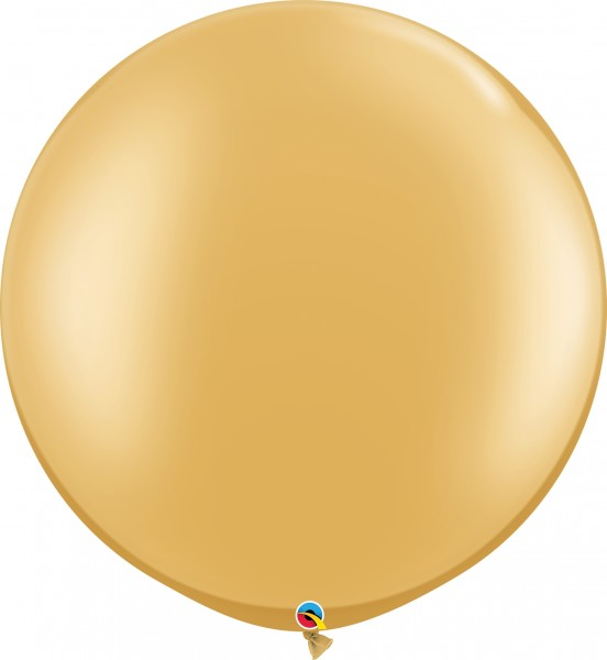 "Qualatex Latexballon Metallic Gold 75cm/30"" 2 Stück"