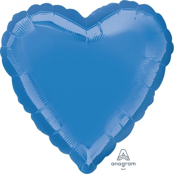 "Anagram Folienballon Herz Mittelblau (Periwinkle) 45cm/18"""