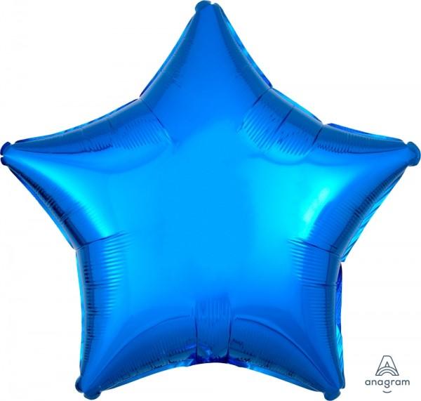 "Anagram Folienballon Stern Metallic Blue 50cm/20"""