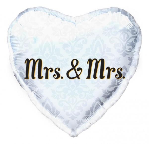 "Northstar Folienballon Mrs. & Mrs. Heart 18"""
