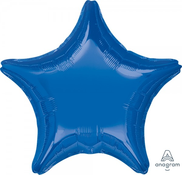 "Anagram Folienballon Stern Dark Blue 50cm/20"""