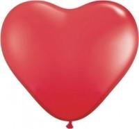 """Globos Herzballons Kristall Rot 35cm/14"""" 100er Packung"""