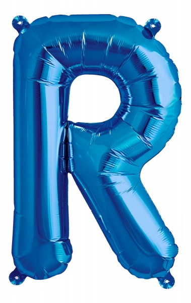 "Northstar Folienballon Buchstabe R Blue 40cm/16"""