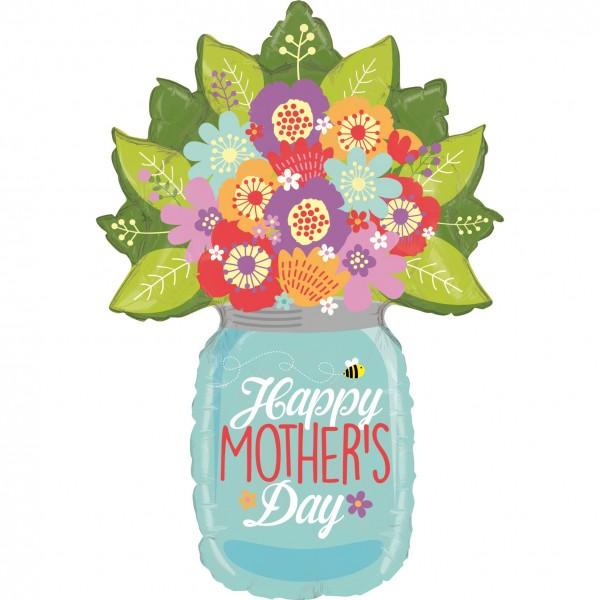 "Betallic Folienballon Mother Day Wildflower Jar 100cm/40"""