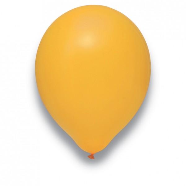 Globos Luftballons 100er Packung 30cm Durchmesser Mandarine Naturlatex