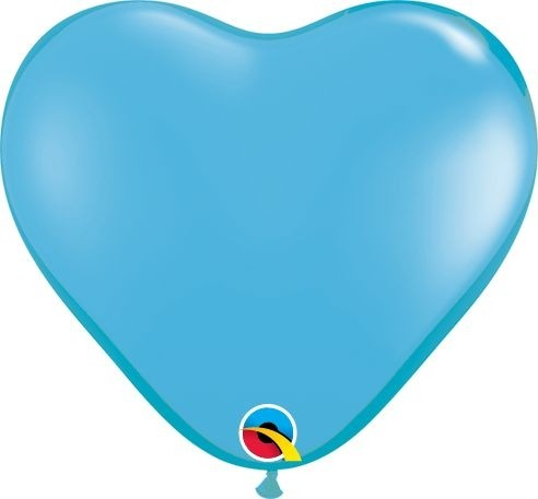 """Qualatex Latexballon Standard Pale Blue Heart 15cm/6"""" 100 Stück"""