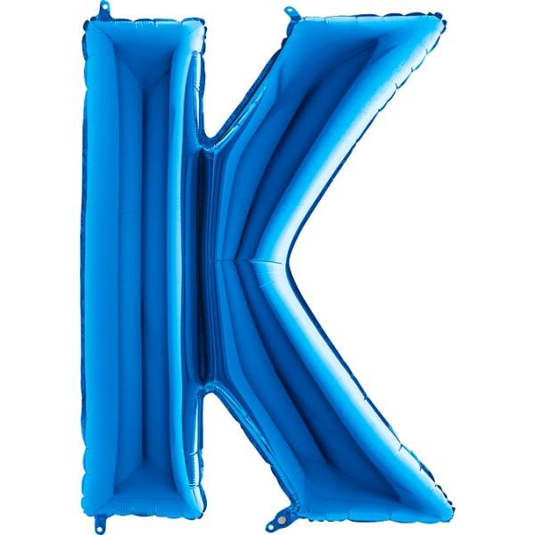 """Grabo Folienballon Buchstabe K Blue 100cm/40"""""""
