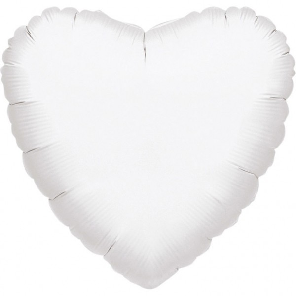 Anagram Folienballon Herz Metallic White 45cm/18""