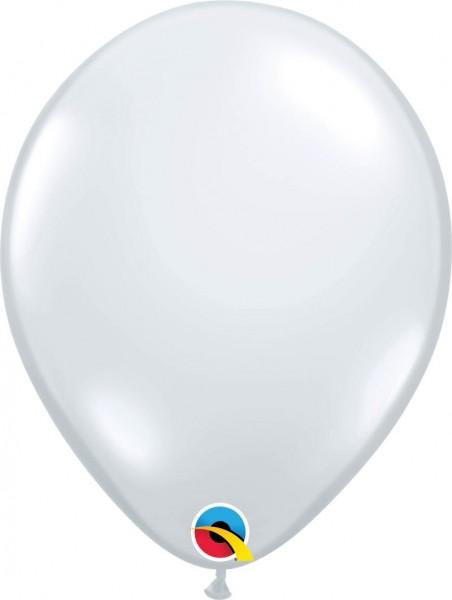 "Qualatex Latexballon Jewel Diamond Clear 28cm/11"" 100 Stück"