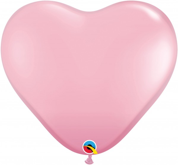 "Qualatex Latexballon Standard Pink Heart 38cm/15"" 50 Stück"
