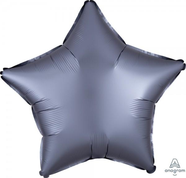 "Anagram Folienballon Stern Satin Luxe Graphite 50cm/20"""