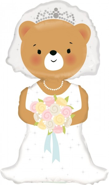 Betallic Folienballon Bride Bear Mini 35cm/14""