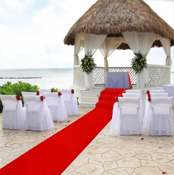 Roter Teppich Rips für Hochzeit und VIP Events Meterware 150cm Breite