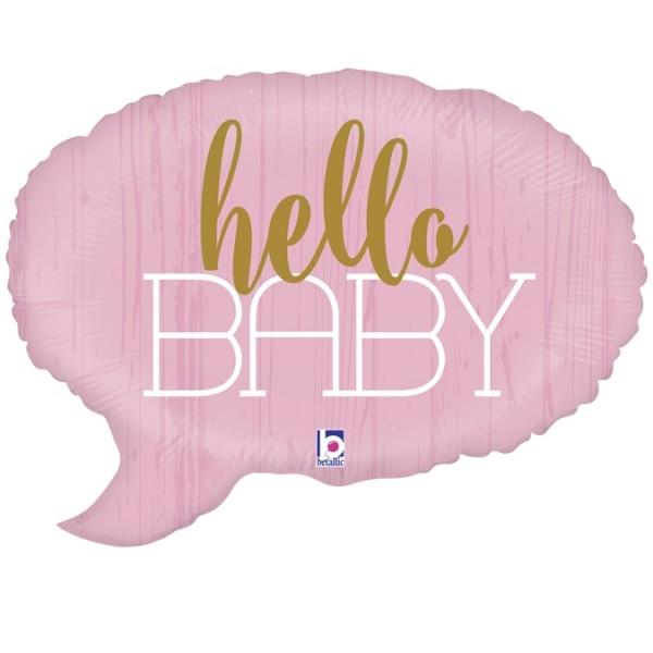 "Betallic Folienballon Hello Baby-Pink 61cm/24"""