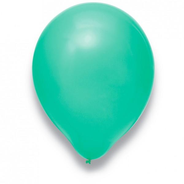 Globos Luftballons 100er Packung 30cm Durchmesser Türkis Naturlatex