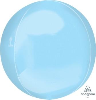 Anagram Folienballon Orbz 40cm Durchmesser Pastell Blau (Pastel Blue)