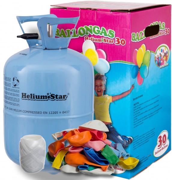 HeliumStar Ballongas 30er Einwegflaschen-Set
