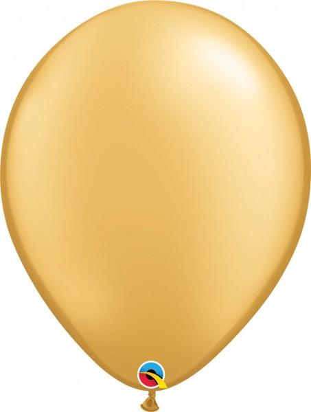 "Qualatex Latexballon Metallic Gold 40cm/16"" 50 Stück"