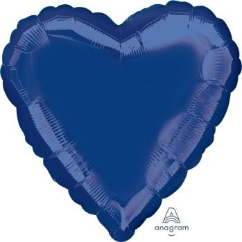 Anagram Folienballon Herz 45cm Durchmesser Marineblau (Navy Blue)
