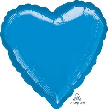 Anagram Folienballon Jumbo Herz 80cm Metallic Blau (Blue)