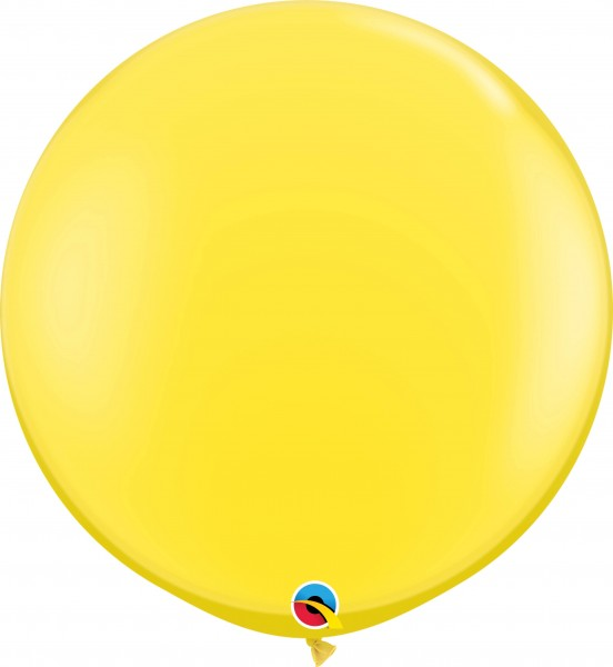 Qualatex Latexballon Standard Yellow 90cm/3' 2 Stück