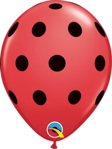 "Qualatex Latexballon Big Polka Dots Red 13cm/5"" 100 Stück"