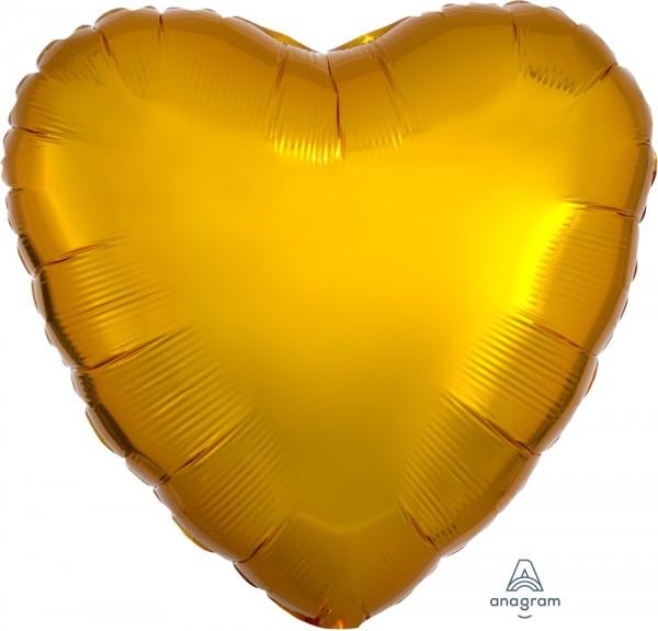 "Anagram Folienballon Herz Metallic Gold 45cm/18"""