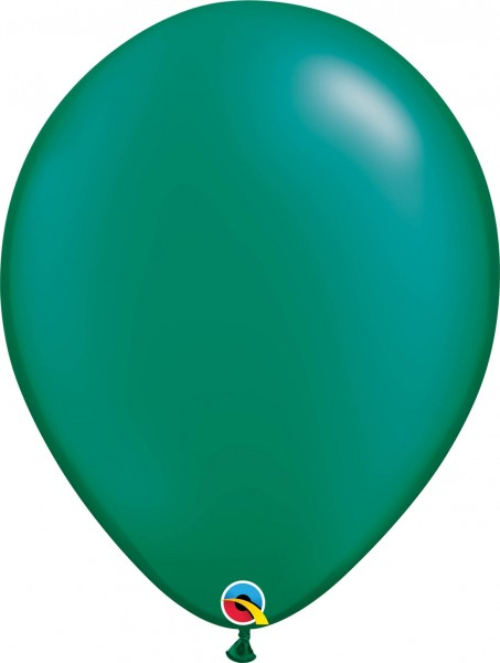 "Qualatex Latexballon Radiant Pearl Emerald Green 40cm/16"" 50 Stück"