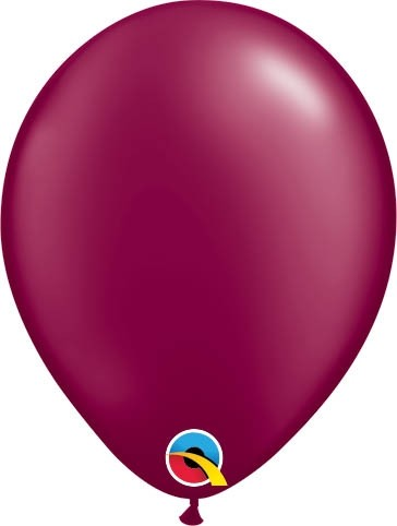 "Qualatex Latexballon Radiant Pearl Burgundy 13cm/5"" 100 Stück"